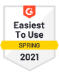 G2 award easiest to use spring 2021