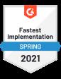 G2 award fastest implementation spring 2021