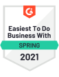 G2 award easiest to do business with spring 2021