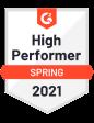 G2 award high performer spring 2021