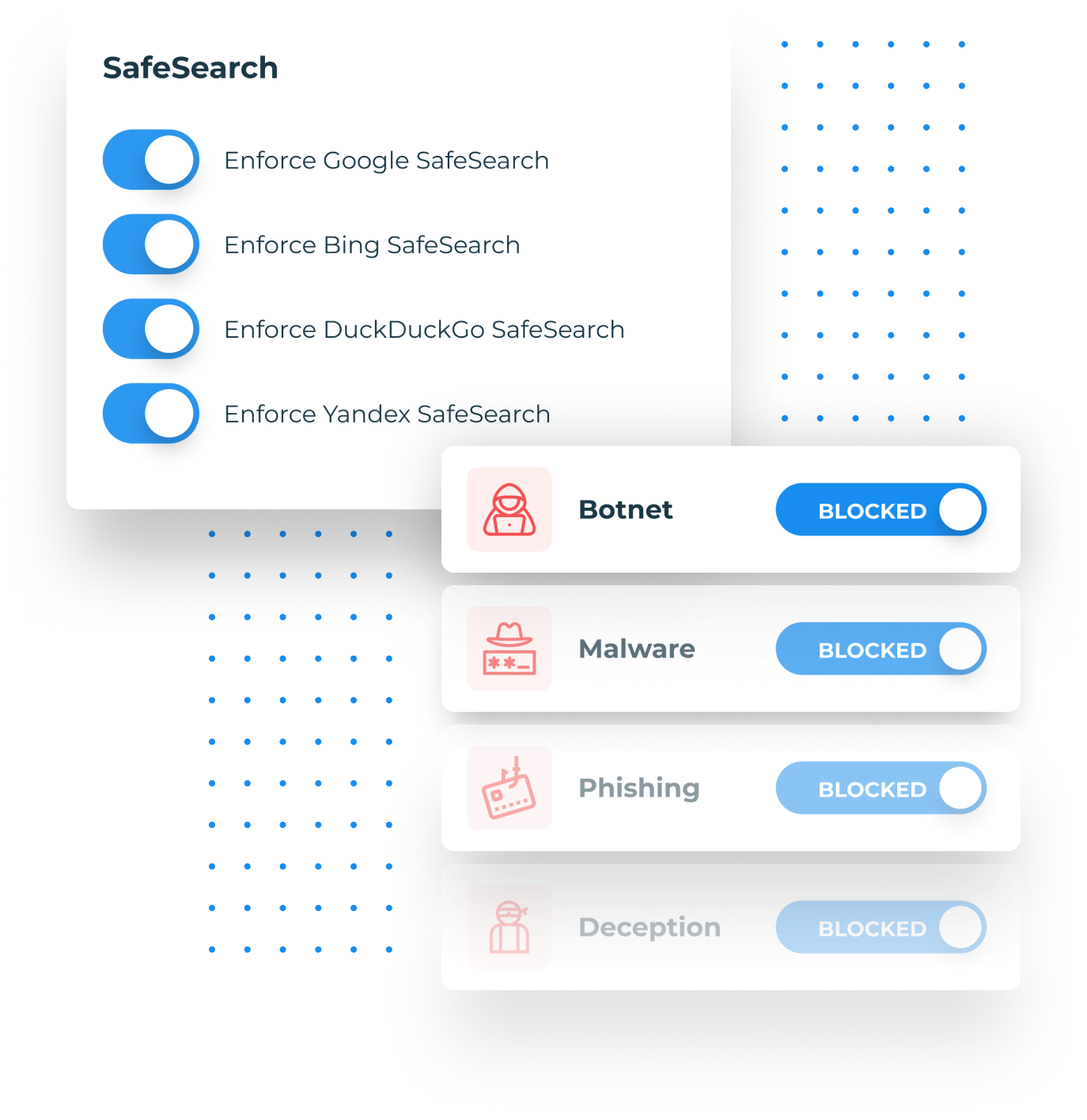 DNSFilter safe search and threat blocking
