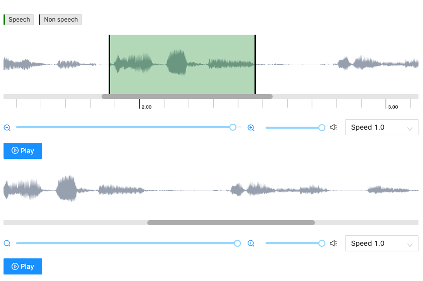 speech segmentation example