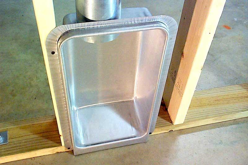 Dryer box installation