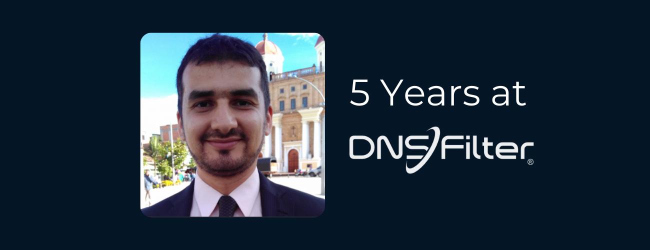 daniel areiza 5 year work anniversary dnsfilter