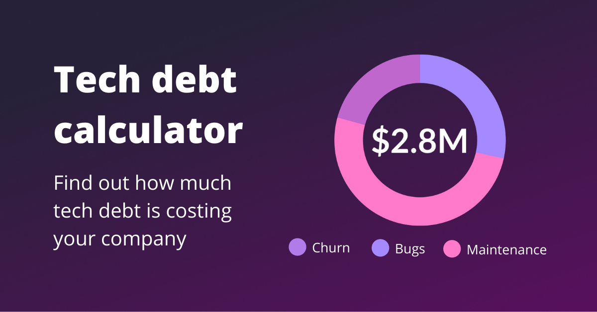https://www.stepsize.com/tech-debt-calculator