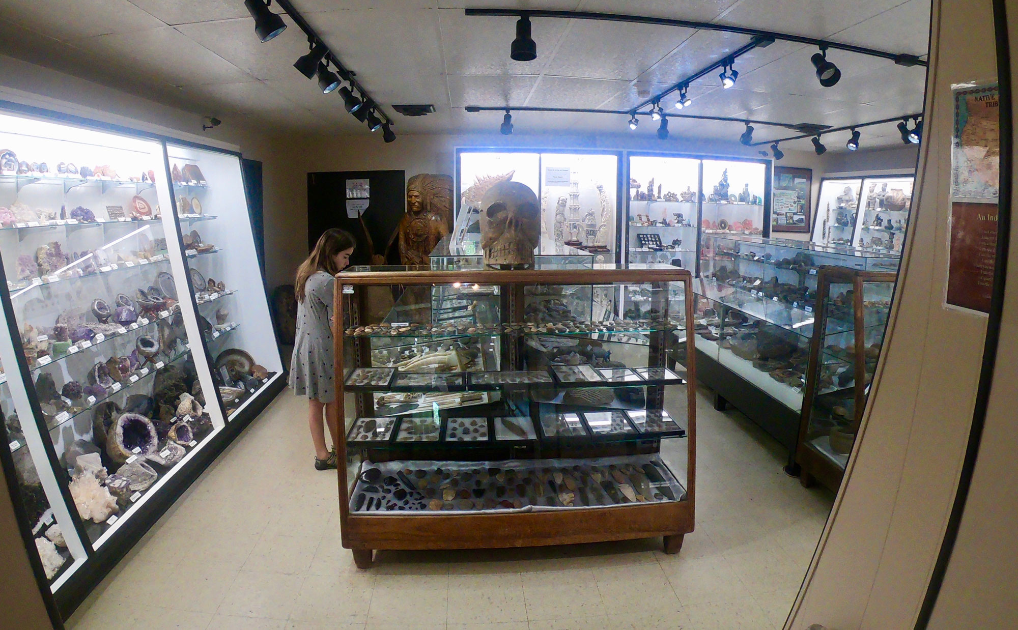 Rock and mineral museum in Rub City Gems jewelry store in Franklin, North Carolina