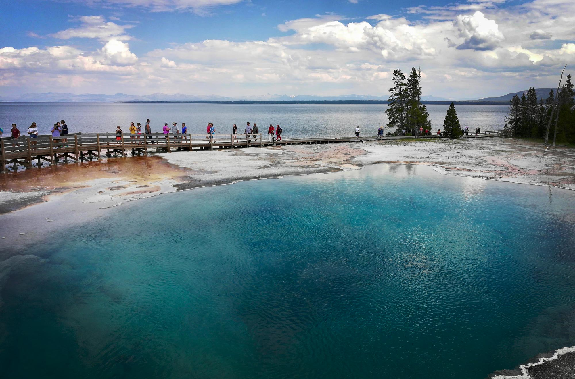 Abyss Pool at West Thumb Geyser in Yellowstone National Park