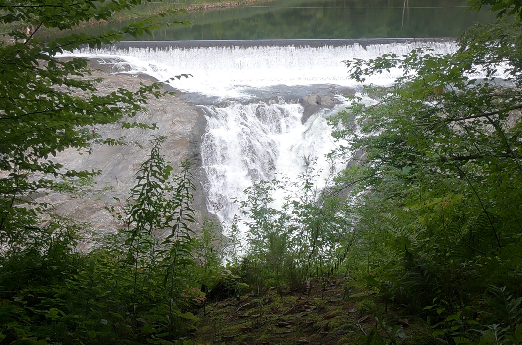 View of waterfalls at Quechee Gorge, Vermont
