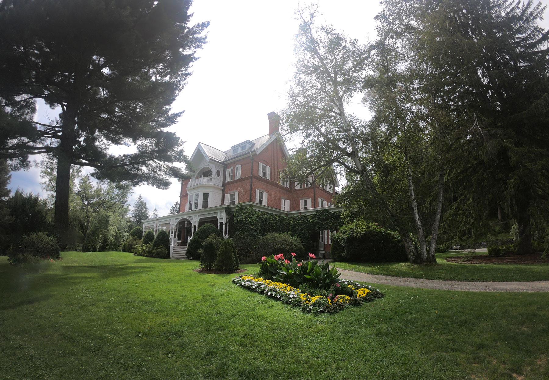 Exterior of mansion at Marsh Billings Rockefeller National Historic Park in Vermont