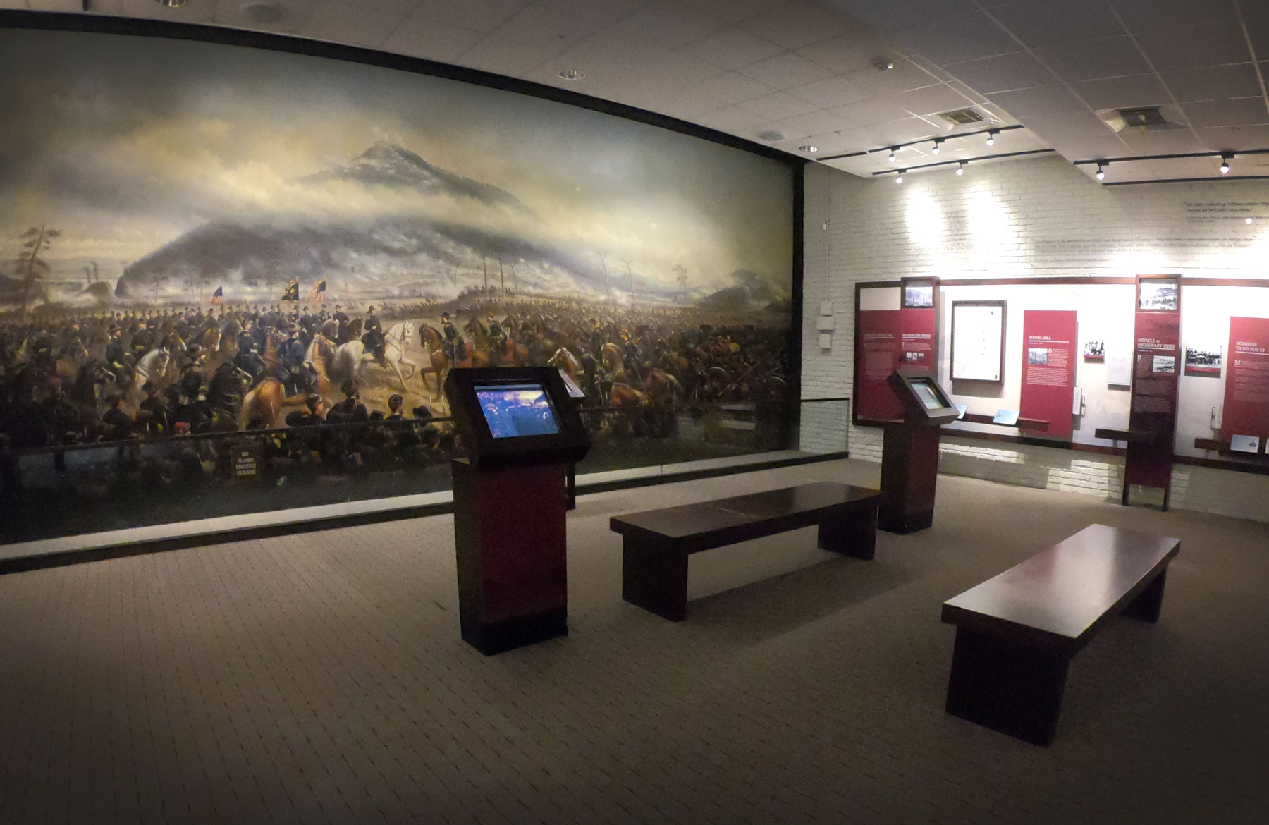 Walker's Campaign for Chattanooga painting at the Lookout Mountain Battlefield Visitor Center, Chickamauga and Chattanooga National Military Park, Tennessee