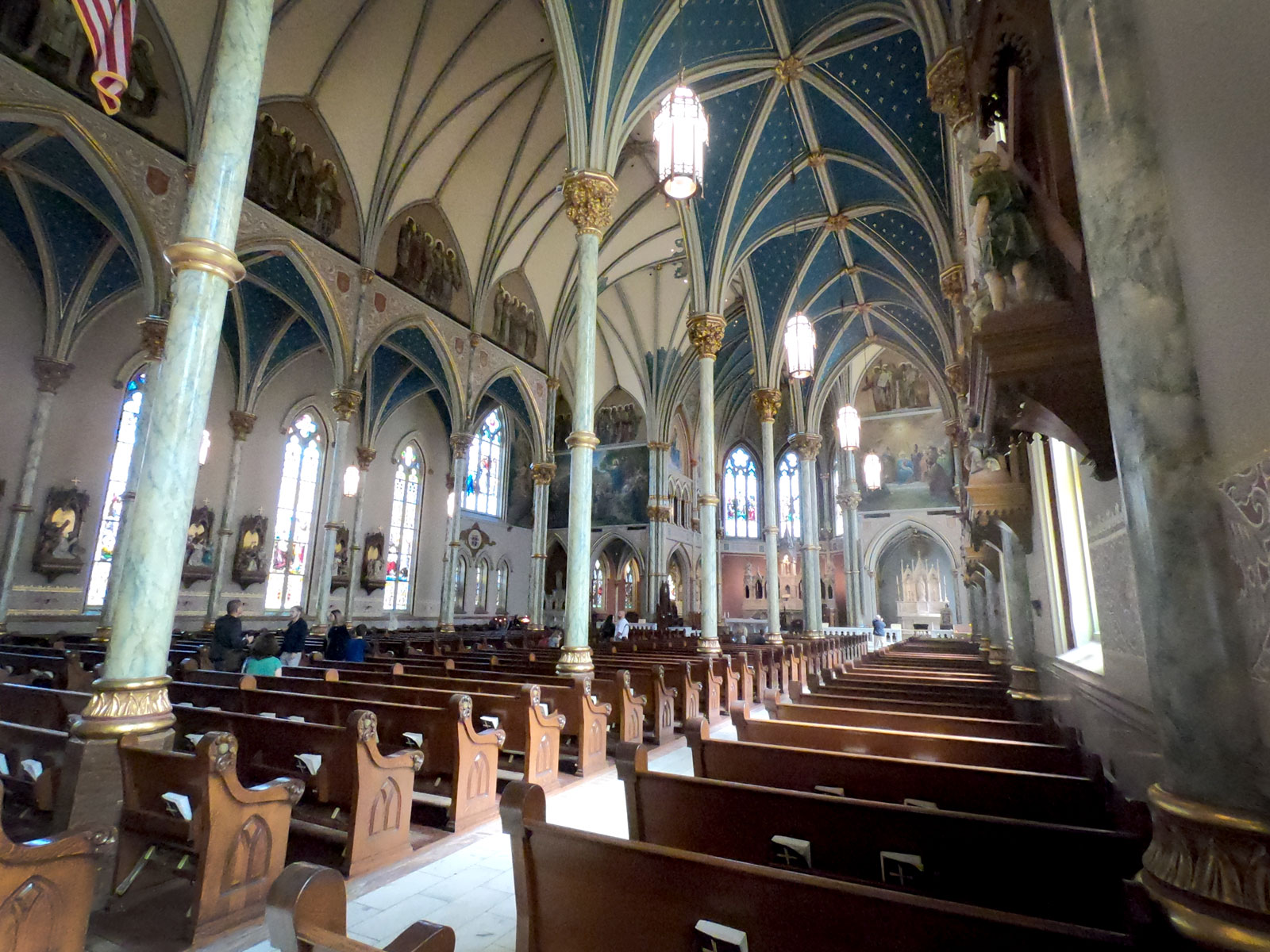 Interior of Cathedral of St John the Baptist Catholic Church in Savannah, Georgia