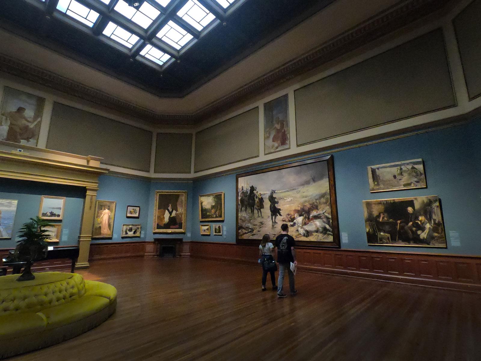 Interior of Telfair Academy art collection in Savannah, Georgia