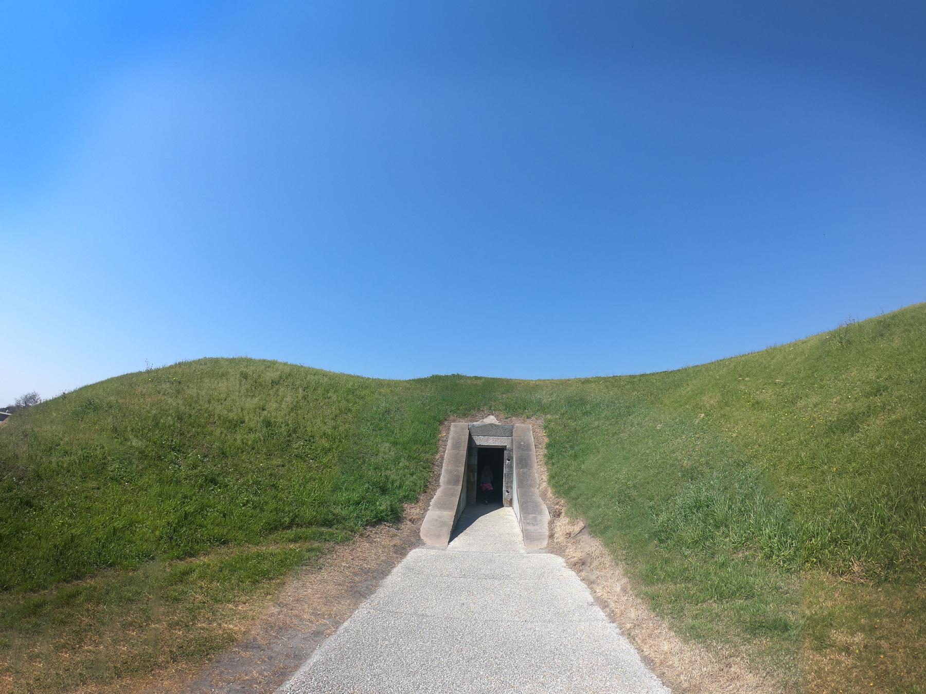 Entrance door to bunker at Fort Pulaski National Monument, Georgia