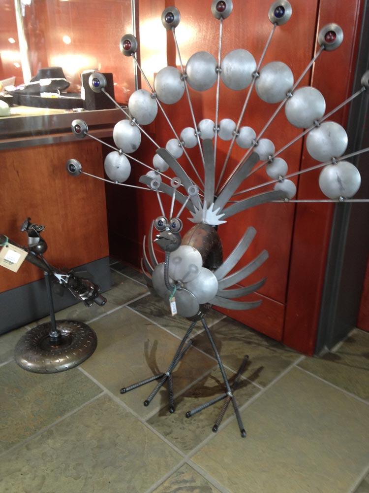 Metal craftwork at Kentucky Artisan Center, Berea, Kentucky