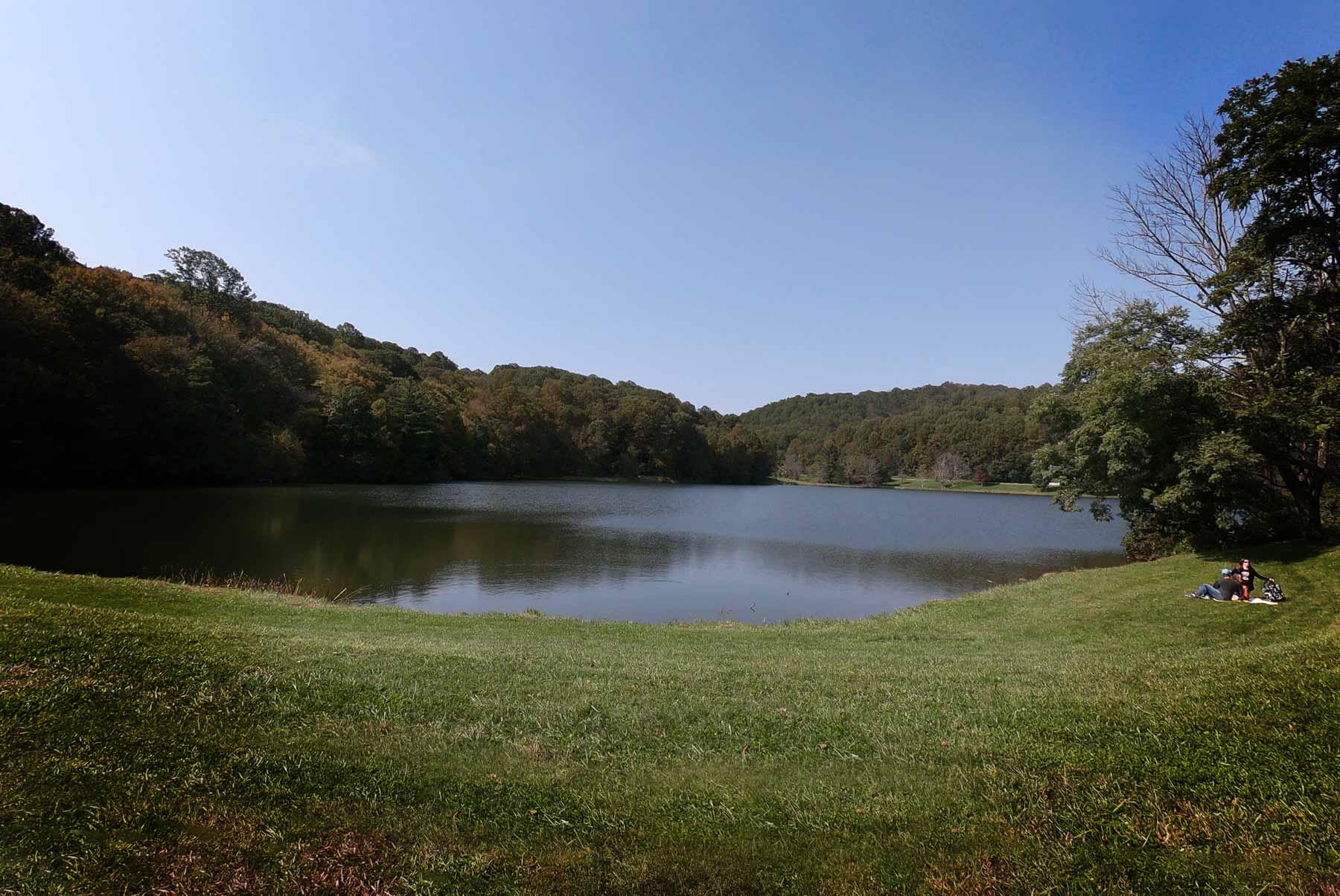 Abbott Lake at Peaks of Otter Historic Lodge off Blue Ridge Parkway, Virginia