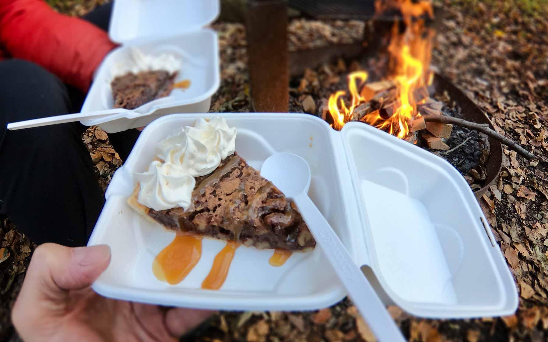 Bourbon-cream chocolate chess pie from Peaks of Otter Lodge, off Blue Ridge Parkway, Virginia