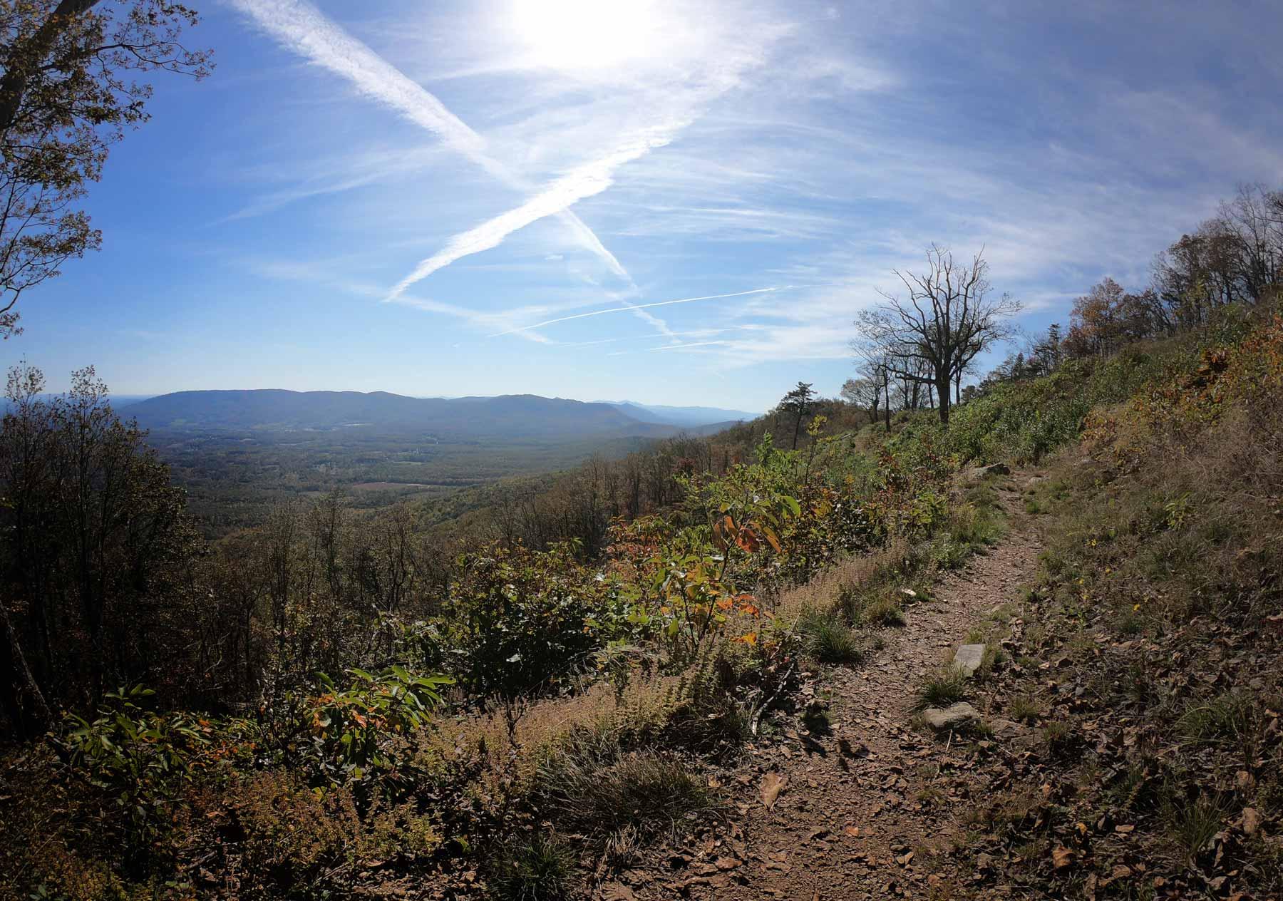 Appalachian Trail from Harveys Knob Overlook to Montvale Overlook on Blue Ridge Parkway, Virginia