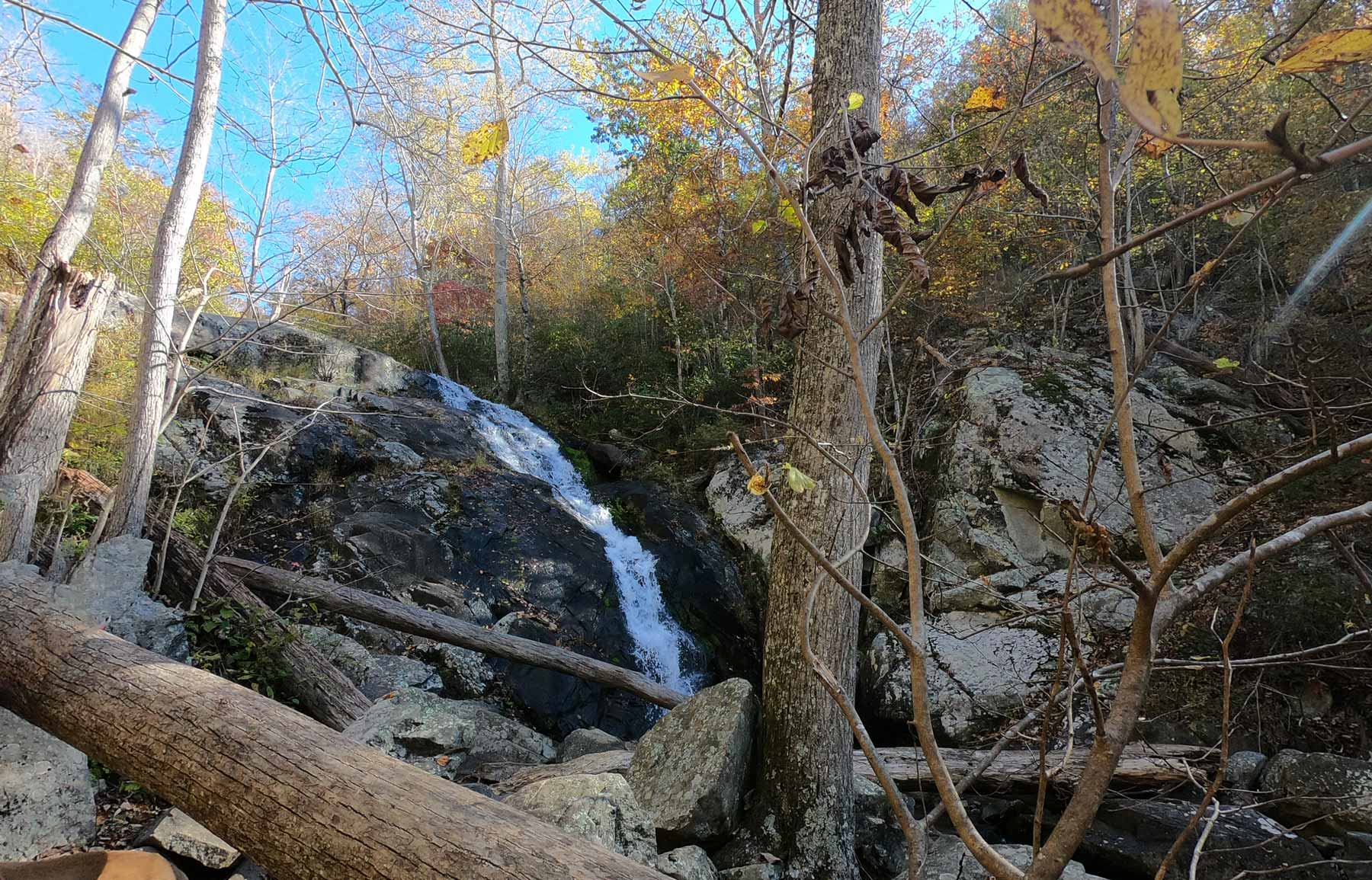 100-ft Fallingwater Cascades, near Peaks of Otter Campground, Blue Ridge Parkway, Virginia