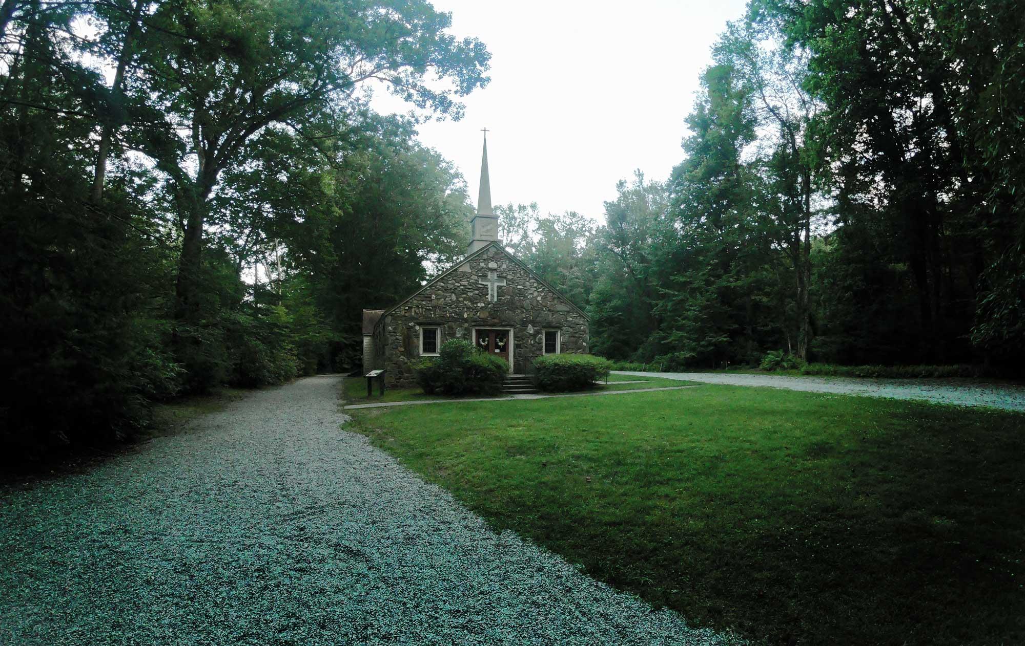 English chapel on the Exercise Loop Trail at Davidson River Campground, North Carolina