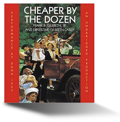 Cheaper by the Dozen audiobook cover