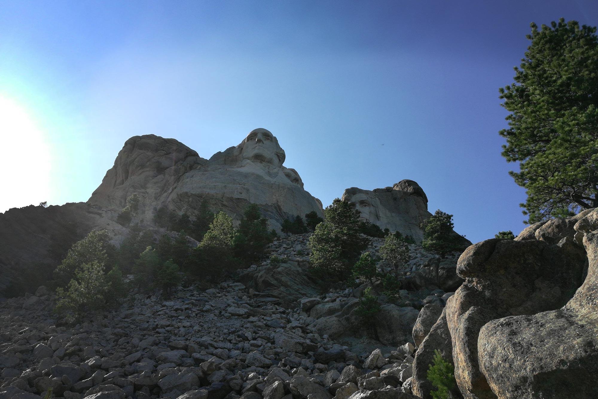 View of presidents at Mount Rushmore National Memorial, Keystone, South Dakota