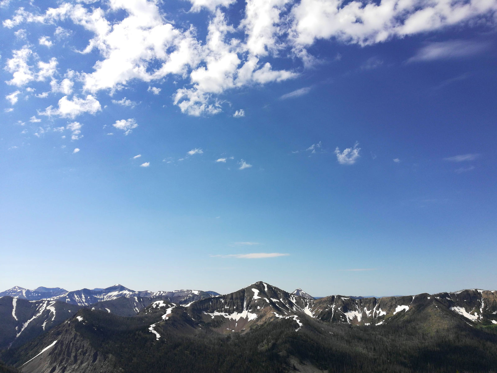 View from the top of Avalanche Peak in Yellowstone National Park