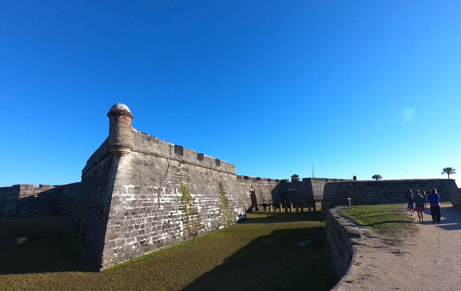 Castillo de San Marcos National Monument in Saint Augustine, Florida