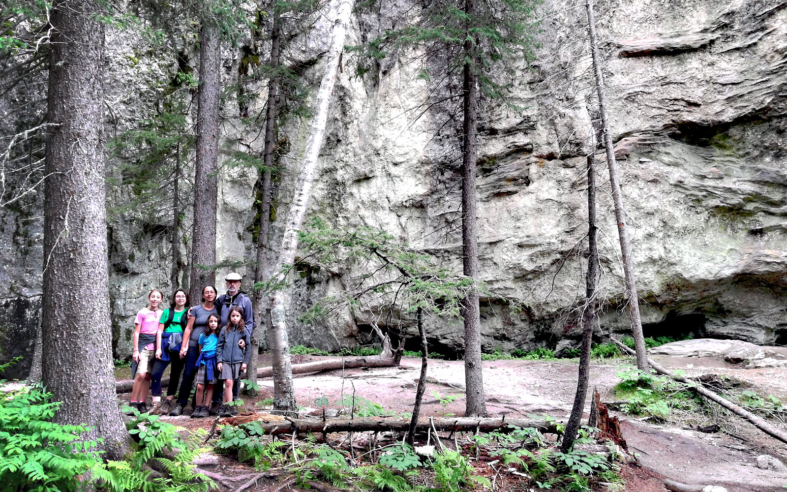 Family on Sunday Gulch Trail in Custer State Park, SD
