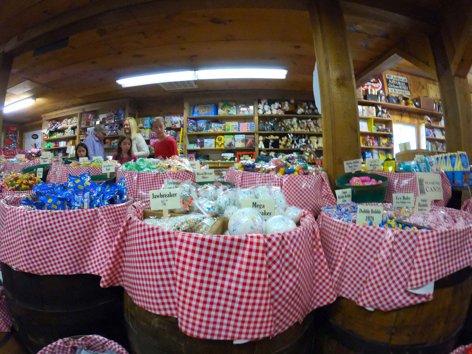 Candy counter at the Mast General Store Annex in Valle Crucis, North Carolina