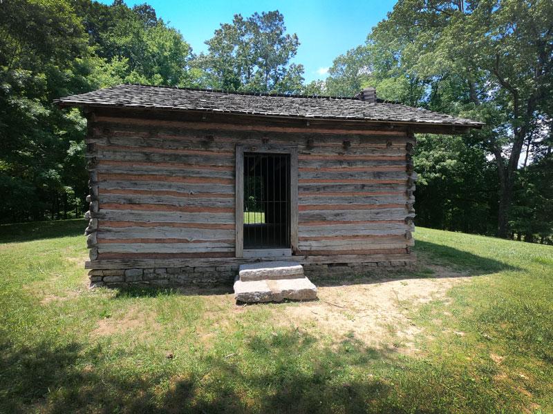 Historic cabin at Chickamauga and Chattanooga National Military Park, Georgia