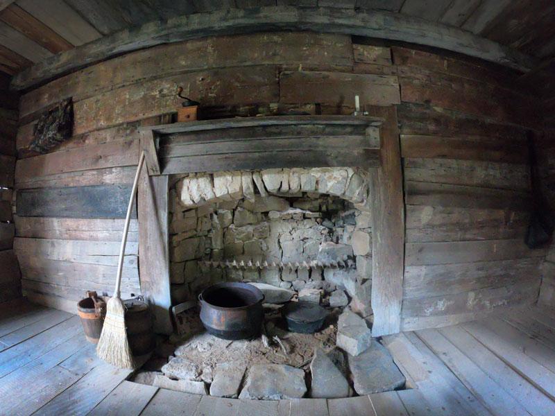 Living History Program cabin at Chickamauga and Chattanooga National Military Park, Georgia