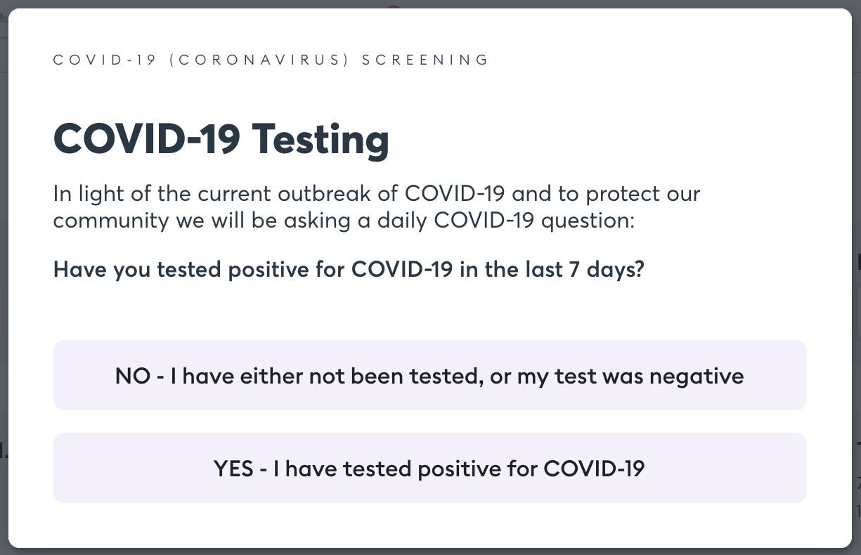 COVID19 pop up