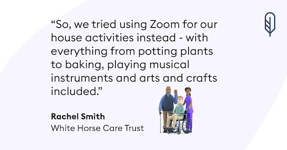 Care home lockdown story - White horse care trust