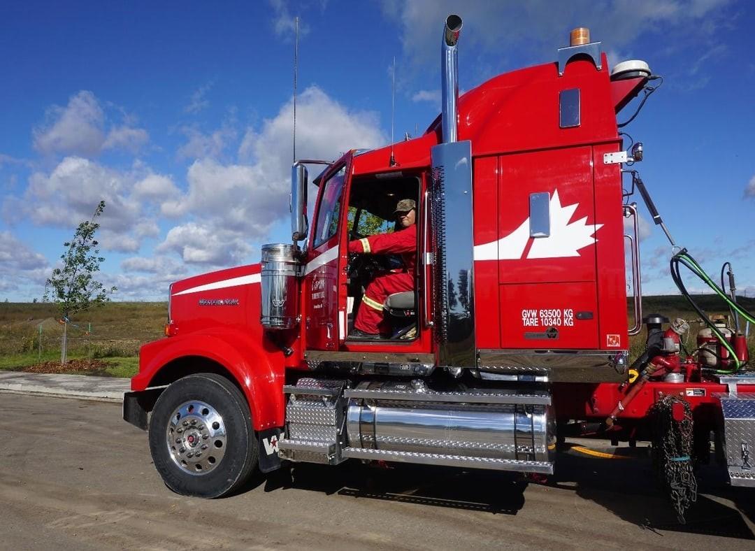 Caron Transportation with Trucker opening door