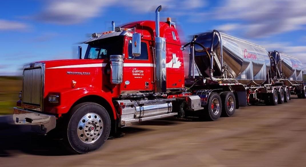 Caron Transportation liquid tanker in action