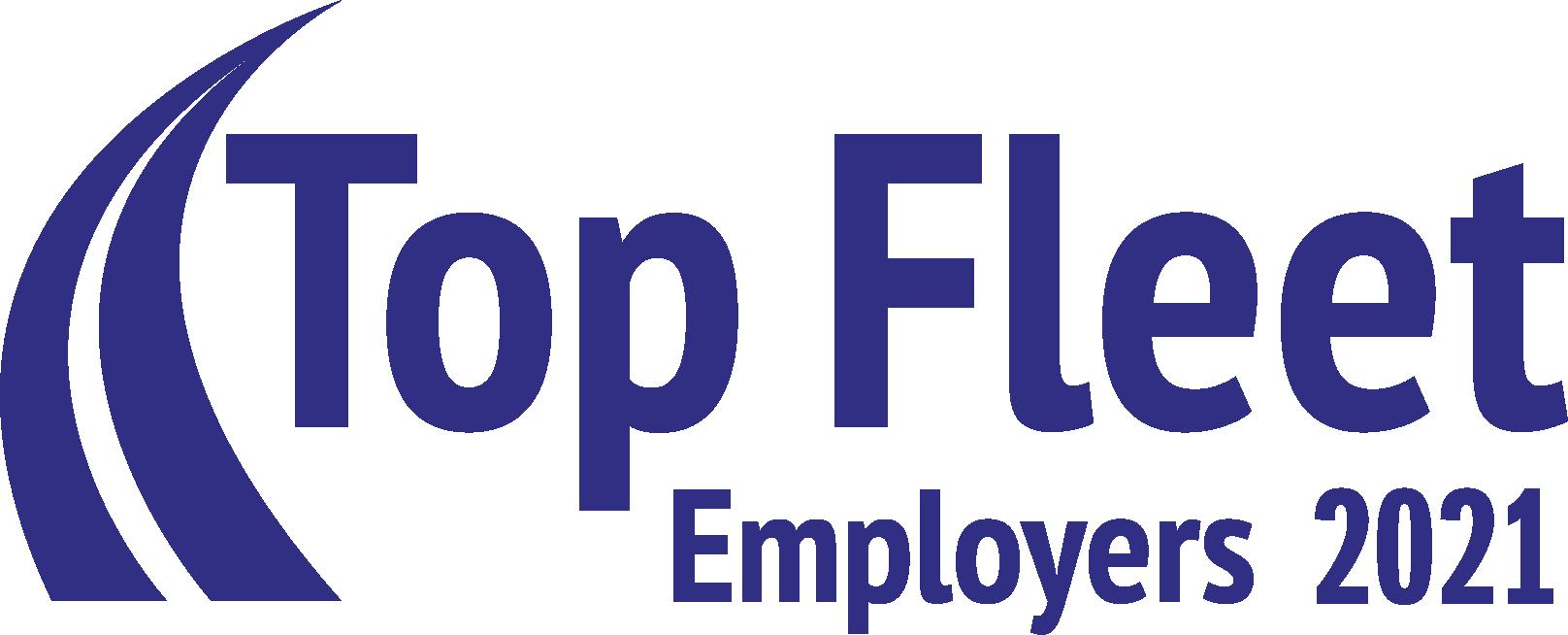Logo graphic award for top fleet employers 2021