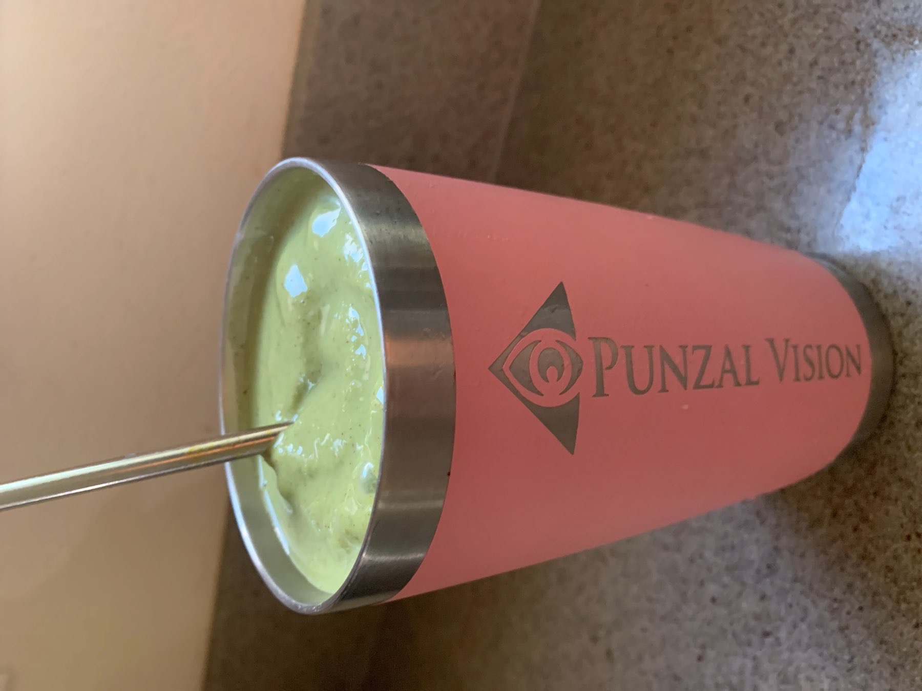 Healthy Green Smoothie in Punzal Vision cup.