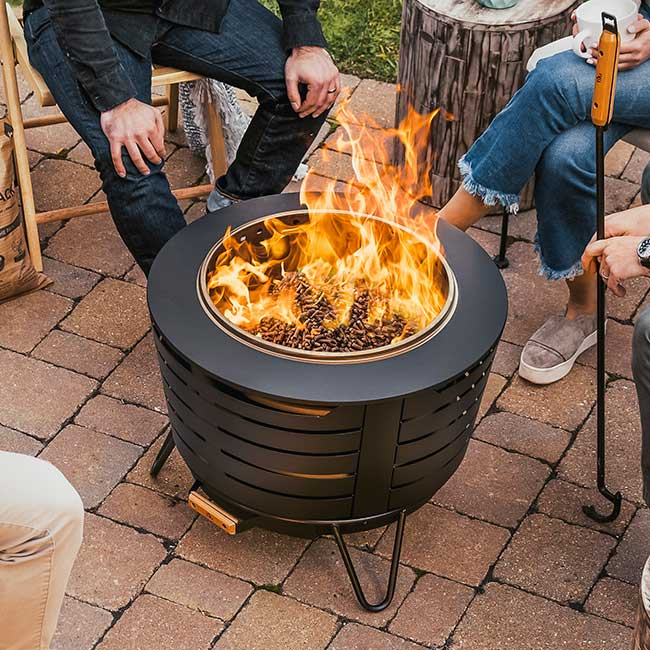 TIKI Fire Pit and Wood Pack