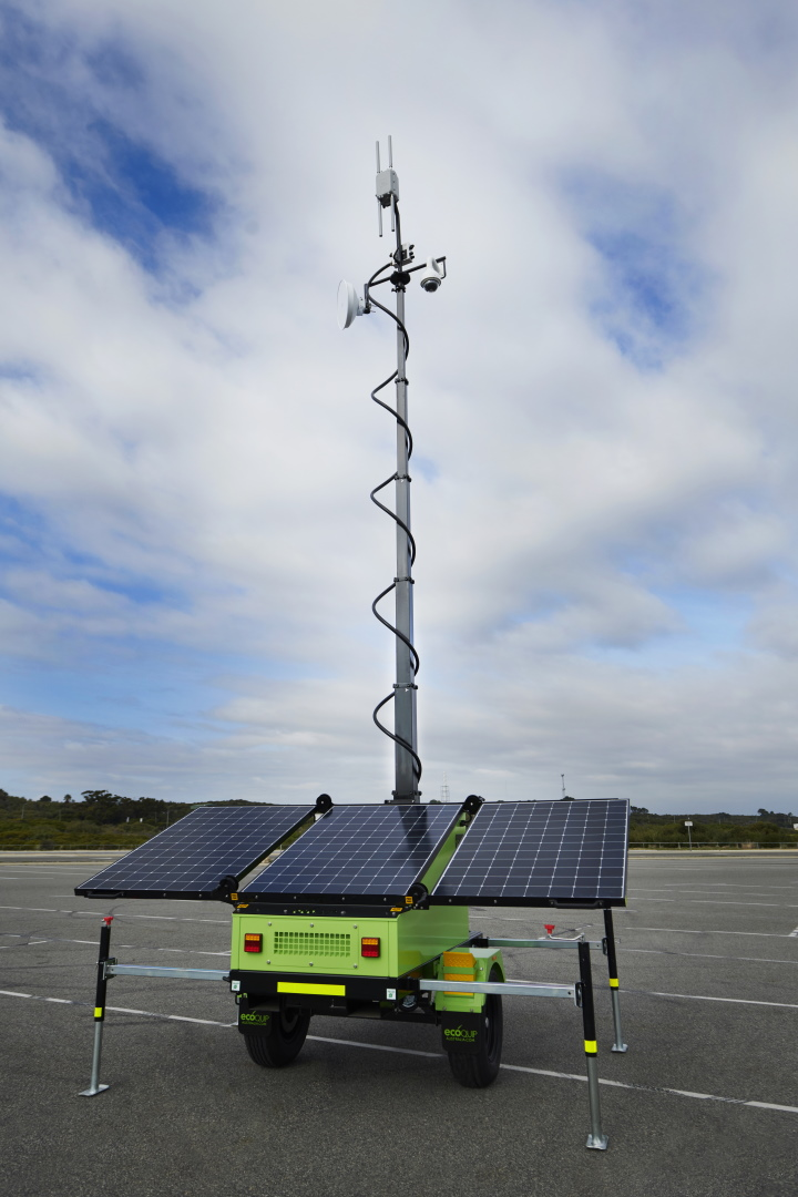 Mobile Solar Communications Tower
