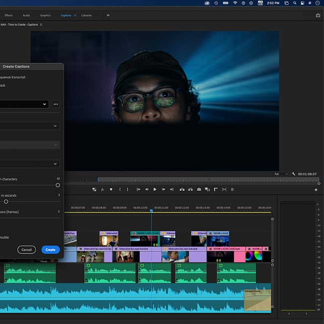 Speech to Text in Premiere Pro