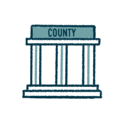 icon of a county recordings office