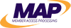 MAP, Member Access Pacific logo in purple and yellow