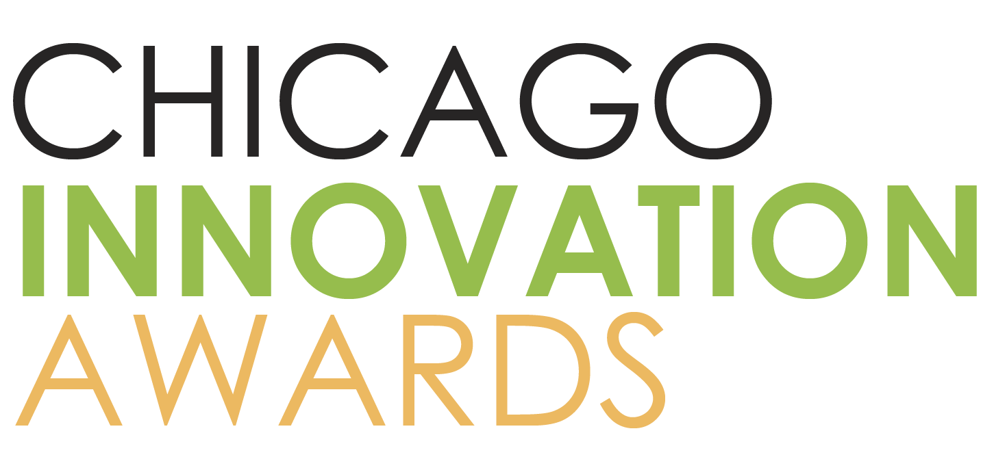 Chicago Innovation Awards logo in black, green and yellow