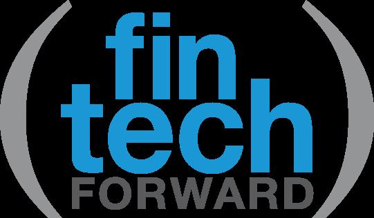 Fin Tech Forward logo in blue and grey