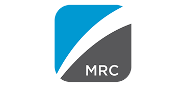 MRC logo in blue, white and grey