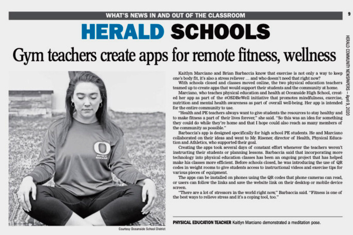 Herald article about OHS app