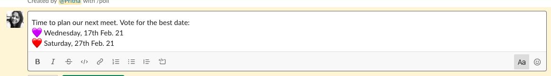 create slack poll using emoji