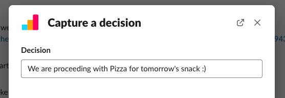 enter final decision in slack