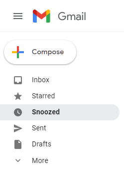 snooze tab in gmail