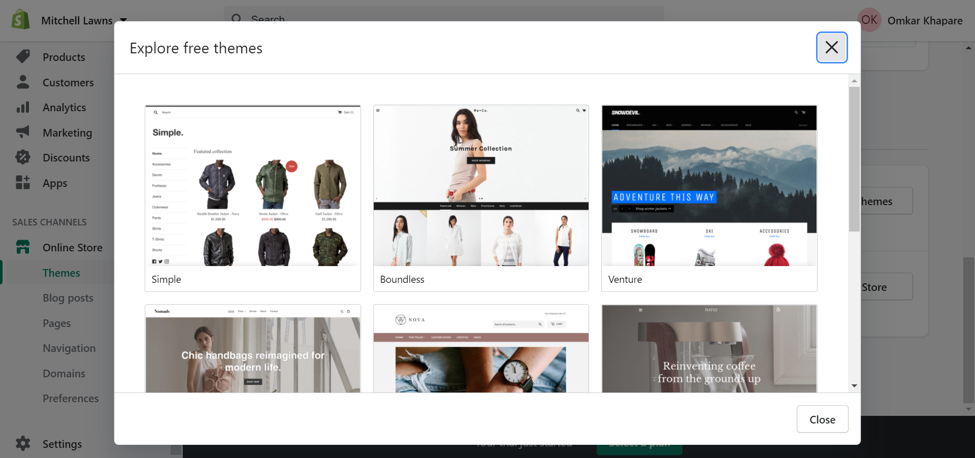 Explore free themes on Shopify